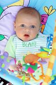Baby With Toys poster