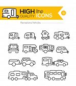 foto of recreational vehicles  - Recreational Vehicles line icons - JPG