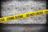 picture of crime scene  - Crime Scene Yellow Tape on grunge background - JPG