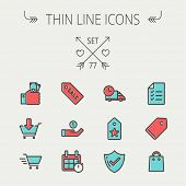 foto of monster-truck  - Business shopping thin line icon set for web and mobile - JPG
