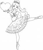 picture of ballerina  - Illustration of cute dancing ballerina coloring page - JPG