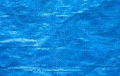 picture of tarp  - blue tarp or tarpaulin background close up - JPG