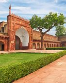 stock photo of india gate  - Agra Red Fort gate - JPG