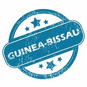 stock photo of guinea  - Round rubber stamp with word GUINEA - JPG