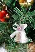 stock photo of christmas bells  - Christmas tree decoration - JPG