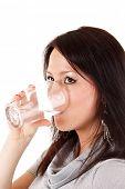 stock photo of drinking water  - woman drink water - JPG