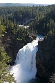picture of undine  - the upper waterfall in yellowstone national park - JPG