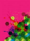 Colorful abstract techno background