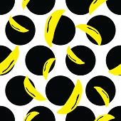 Vibrant Dots Banana Background. A Vibrant, Modern, And Flexible Pattern For Brand Who Has Edgy Style poster