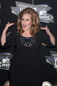 Los Angeles aug 28: Adele, die Ankunft der 2011-Mtv video Music Awards im la live on august 2