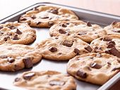 picture of doughy  - finished cookies right out of the oven - JPG
