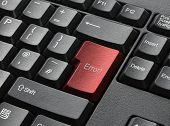 Red Key On Computer Keyboard Entitled Error poster