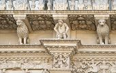 foto of corbel  - Baroque detail from the facade of the Holy Cross  - JPG