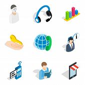 Personnel Administration Icons Set. Isometric Set Of 9 Personnel Administration Vector Icons For Web poster