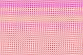 Yellow Pink Dotted Halftone. Contrast Subtle Dotted Gradient. Half Tone Vector Background. Artificia poster