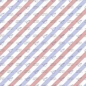 Blue Red Envelope Pattern With Airplane. Classic, Cute, And Flexible Pattern For Brand Who Has Fun S poster