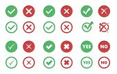 Check Box Icons, Tick And Cross Signs, Check Mark poster