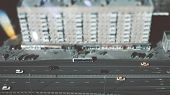 True Tilt-shift Shooting Of Highway In Metropolis From The High Point: Residential Building, The Roa poster