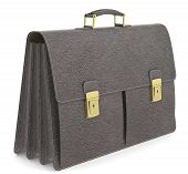 picture of 50th  - Brown leather Briefcase - JPG