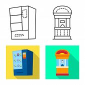 Isolated Object Of Amusement And Store Icon. Collection Of Amusement And Urban Vector Icon For Stock poster