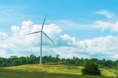 Wind Turbines In The Meadow poster