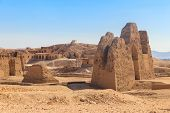 Archaeological Site Near The Temple Of Hatshepsut In Deir El-bahri. Excavations Of Ancient Egypt On  poster