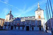 The Old Town Hall (casa De La Villa) And The House Of Cisneros (casa De Cisneros) At Plaza De La Vil poster