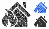 Realty Fire Disaster Composition Of Circle Elements In Different Sizes And Color Hues, Based On Real poster