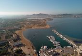 Aerial Panoramic Photography Drone Point Of View La Manga Del Mar Menor Townscape And Seaside Spit O poster