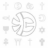 Religion Symbol, Eckankar Outline Icon. Element Of Religion Symbol Illustration. Signs And Symbols I poster