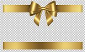 Gold Bow And Ribbon Gift For Christmas And Birthday Decorations poster