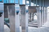 Turnstile. Checkpoint. Automatic Access Control. Access System To The Building poster