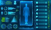 Hud Ui For Medical App. Futuristic User Interface Hud And Infographic Elements poster