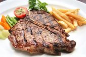 picture of porterhouse steak  - T - JPG
