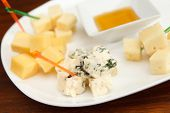picture of brie cheese  - plate cheese - JPG
