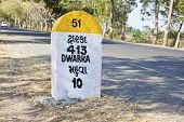 Kilometers To Dwarka Milestone