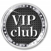 Vip club round label