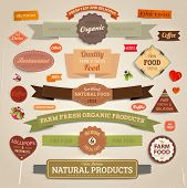 pic of food label  - Set of vector labels - JPG