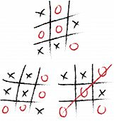 pic of tic-tac-toe  - Hand drawn tic - JPG