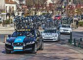 Row Of Technical Teams Cars- Paris Nice 2013