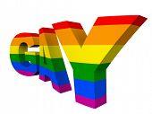 picture of gay pride  - gay pride 3D concept - JPG