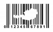 Austria shopping bar code isolated on white background.