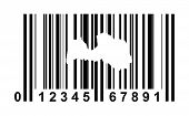 Latvia shopping bar code isolated on white background.