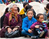 Tibetan People Enjoying Folk Festival Performance