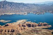Lake Mead Aerial View, America, Arizona and Nevada