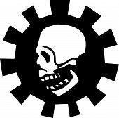 Постер, плакат: Gear черепа 4