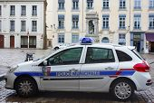 Municipal police car in Lyon, France