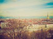 picture of torino  - Vintage looking City of Turin  - JPG