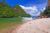 foto of james bond island  - James Bond Island on Phang Nga Bay in Thailand - JPG