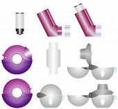 stock photo of asthma  - Asthma inhalers - JPG